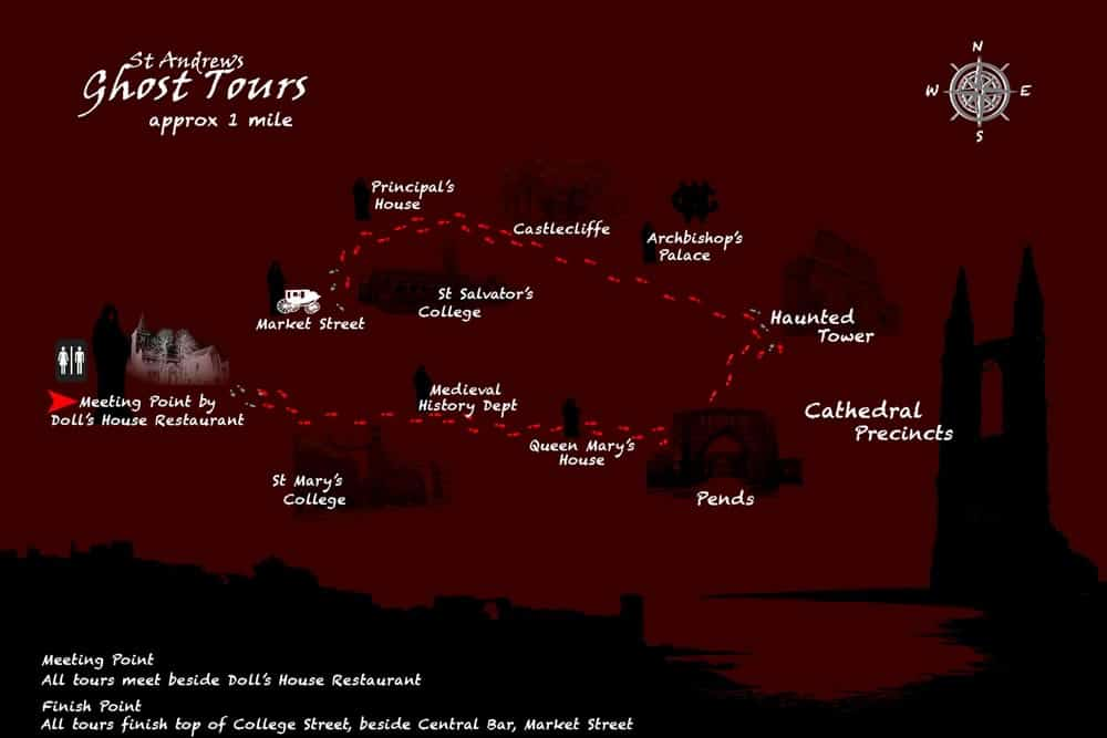 St Andrews Ghost Tours Route